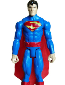 plastic figure of a superman doll