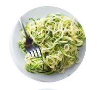 A plate of Zucchini noodles