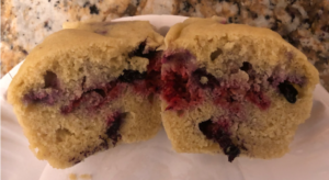 Low Carb Raspberry and Blueberry muffin